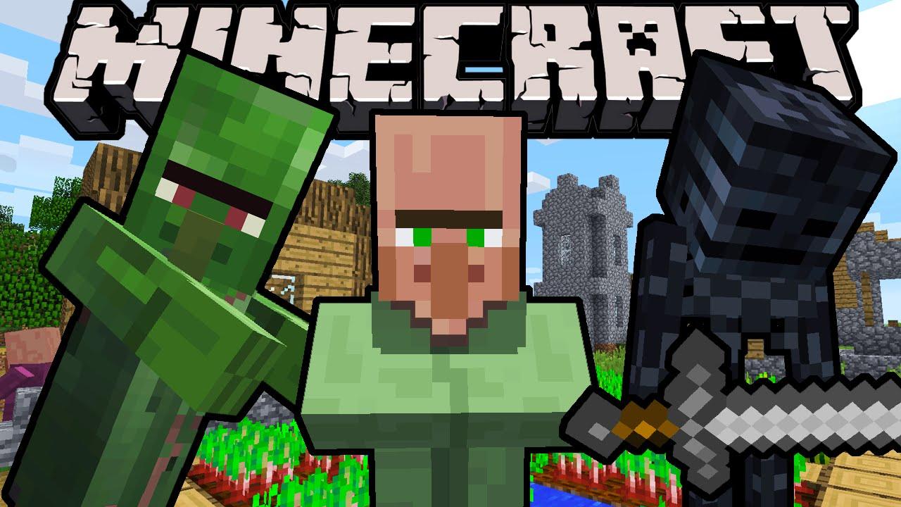 "Minecraft 12.1212 Snapshot: Green Villagers Return! MCPE Mod API Minecon News,  Zombie Villager ""Nitwit"""