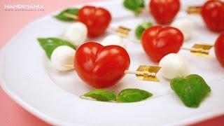 Pomidorkowe serca przebite strzałą