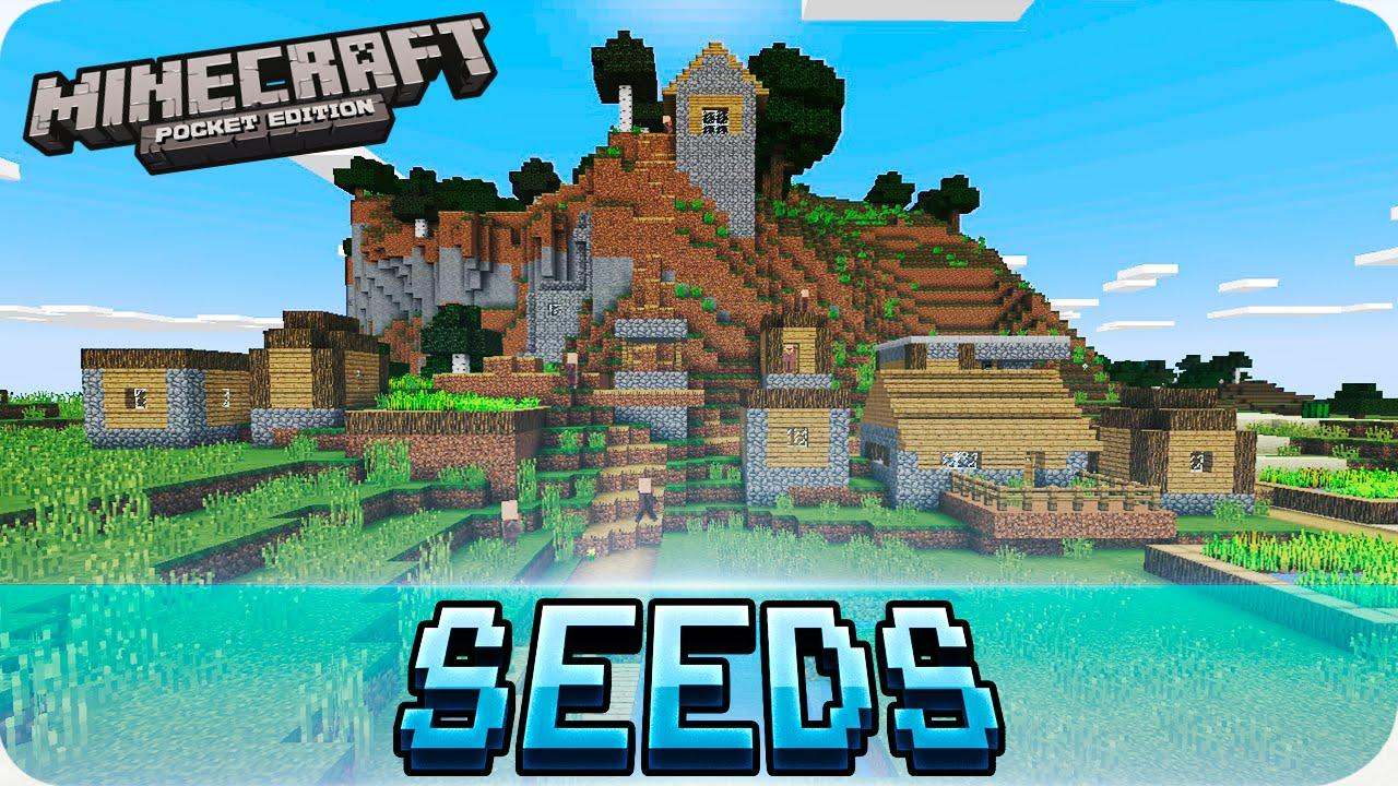 Minecraft PE Seeds - Three Villages, Flat Spawn, Glitched Village! 1221222.1222 /  1221222.1221222 MCPE