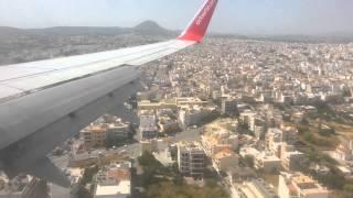 Kreta - Anflug und Landung über Heraklion 26.5.2014
