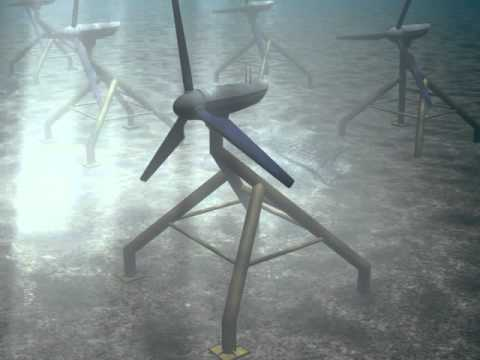 Computer Animation - Tidal Power Generator - YouTube