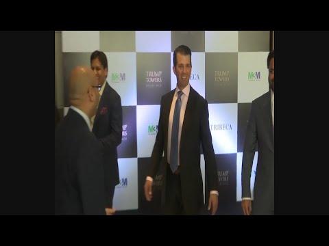 Raw: Donald Trump Jr. Arrives In India