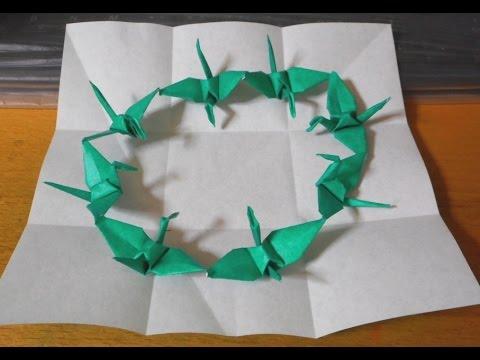 クリスマス 折り紙 折り紙 連鶴 : youtube.com