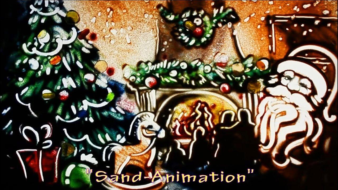 С рождеством рисунок на песке видео, открытки новому году