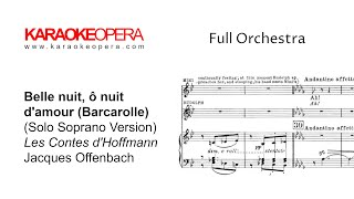 Karaoke opera: barcarolle - tales of hoffman (offenbach) version with soprano only