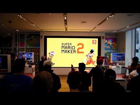 Super Mario Maker 2 Direct 5.15.2019 Live Reactions at Nintendo NY