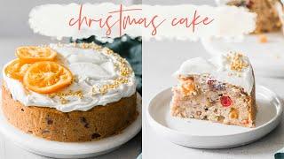 Christmas fruit cake recipe // holiday baking recipes