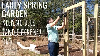 VLOG: Early Spring Garden 2019 | Fencing in the garden | Garden Fence | Garden enclosure