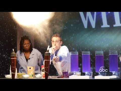 Science Experiments on THE VIEW (ABC) | Jeffrey Vinokur + Whoopi Goldberg