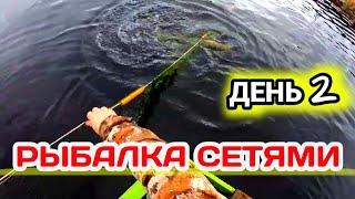 Весенняя Рыбалка сетями на Лесном Озере День 2