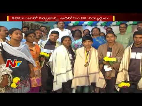 Vizianagarm Students unfurls Indian flag at Kilimanjaro || NTV