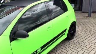 Full CarWrap Golf 5 GTI 460HP Tuning Green