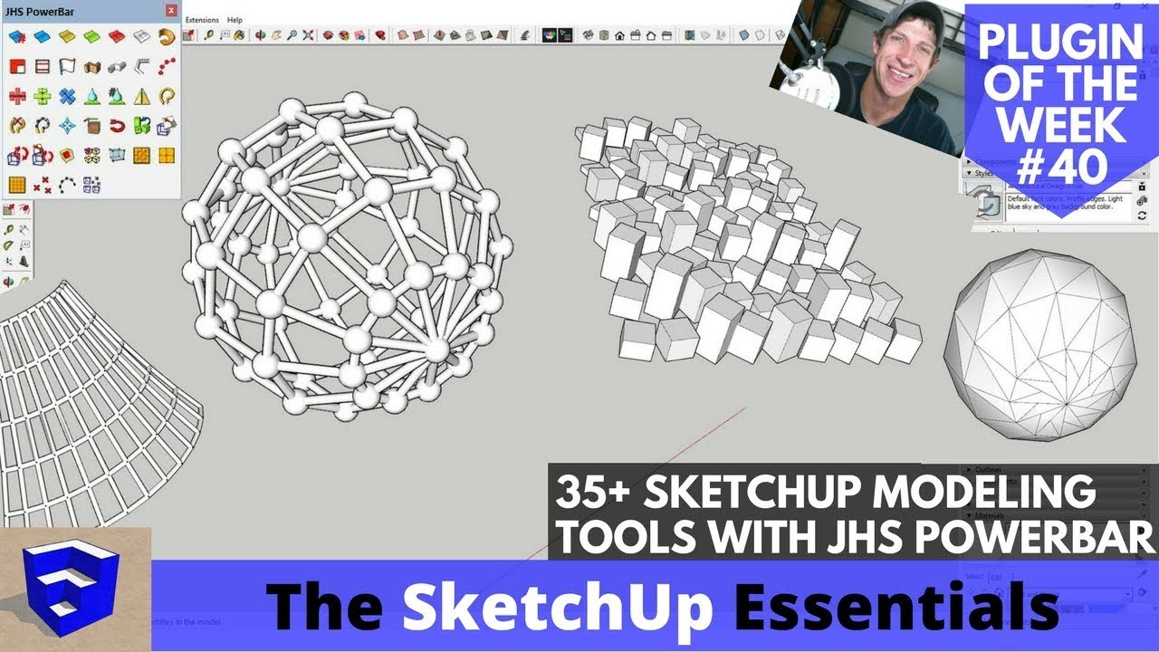 JHS Powerbar - 35+ Tools for SketchUp - All Explained