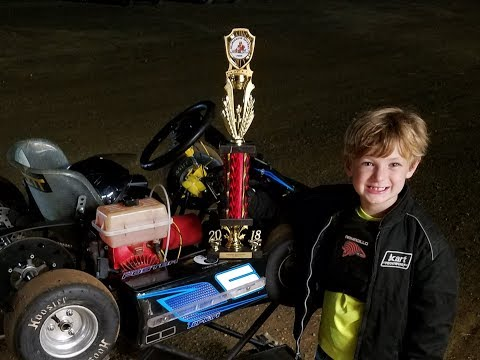 Connor Murphy Foster Selinsgrove Speedway Kid Kart Feature Aug 31 2018