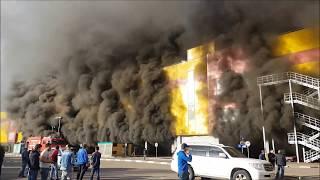 Пожар в торговом центре Синдика. Горит рынок в Строгино.