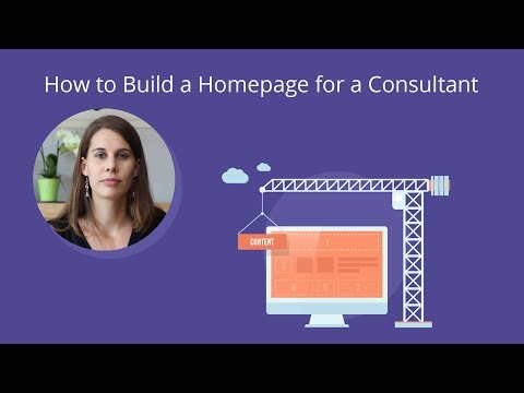 How to Build a Homepage for a Consultant