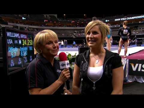 Carly Patterson Interview - 2009 Visa Championships - Women - Day 1