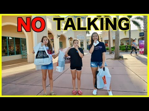 NO TALKING SHOPPING CHALLENGE ' NO SPEAKING ' HAUL | SISTER FOREVER