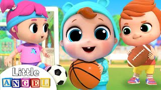 Playtime at the Park | Sports Song |  Little Angel Nursery Rhymes