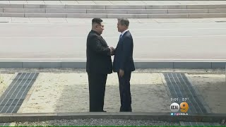 North Korean Leader Steps Into South For First Time