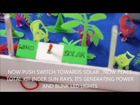 WIND & SOLAR ENERGY WORKING MODEL