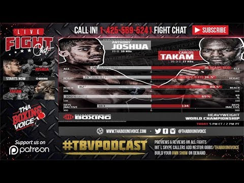 Anthony Joshua vs. Carlos Takam LIVE FIGHT CHAT &  IMMEDIATE REACTION, CALL IN!