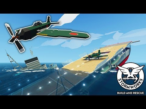 I Tried To Escape A Sinking WWII Aircraft Carrier! - Stormworks Gameplay - Sinking Ship Survival