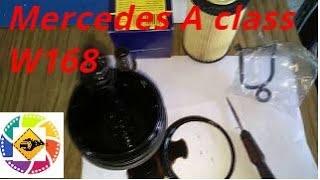 Замена масло мотора Mercedes A class W168 1.6l how to chenge motors oil