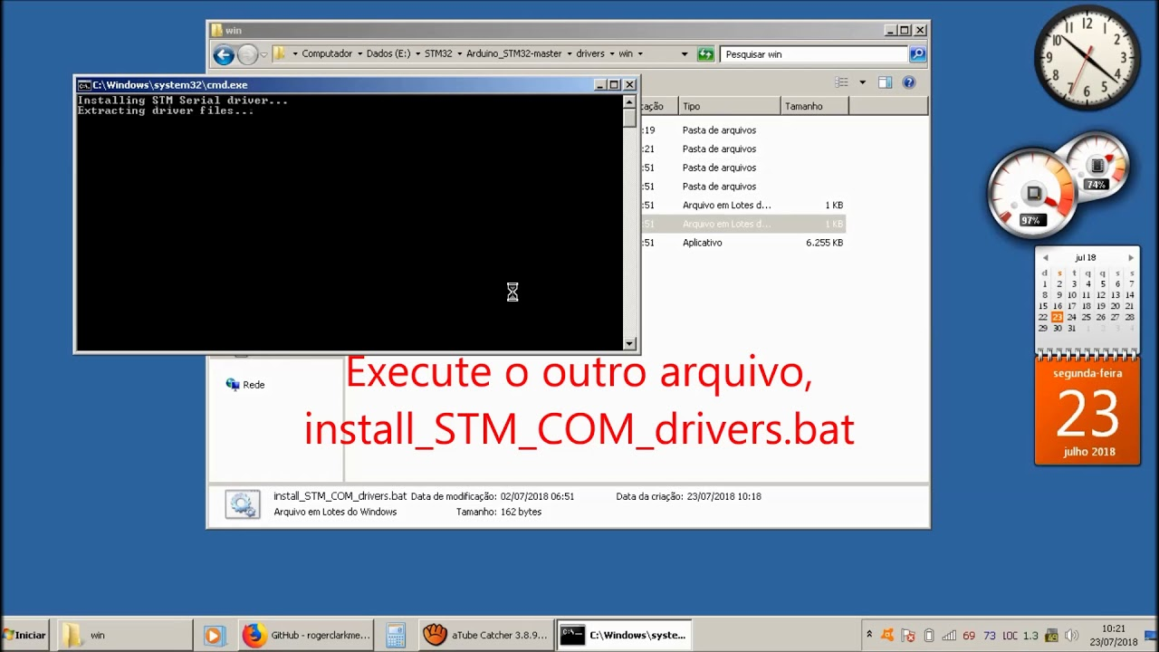 STM32F103C8T6 - Driver USB para STM32duino-bootloader - Upload do sketch de  Arduino direto pela USB!