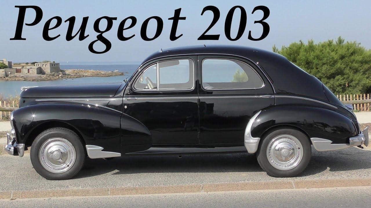 peugeot 203 classic car 1948 1960 oldtimer youtube. Black Bedroom Furniture Sets. Home Design Ideas