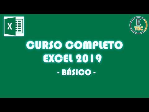 CURSO COMPLETO EXCEL BÁSICO 2019
