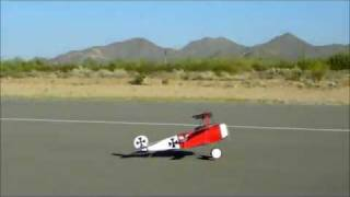 Rampman's 1/4 Scale Fokker DR1 R/C WWI Triplane Like the Red Baron