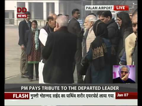 PM pays tribute to Mufti Mohammed Sayeed