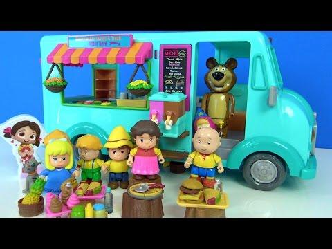 Niloyanın dondurma arabası - Oyuncak dondurma aracında Kayu Maşa çizgi filmi oyuncağı dondurma yiyor