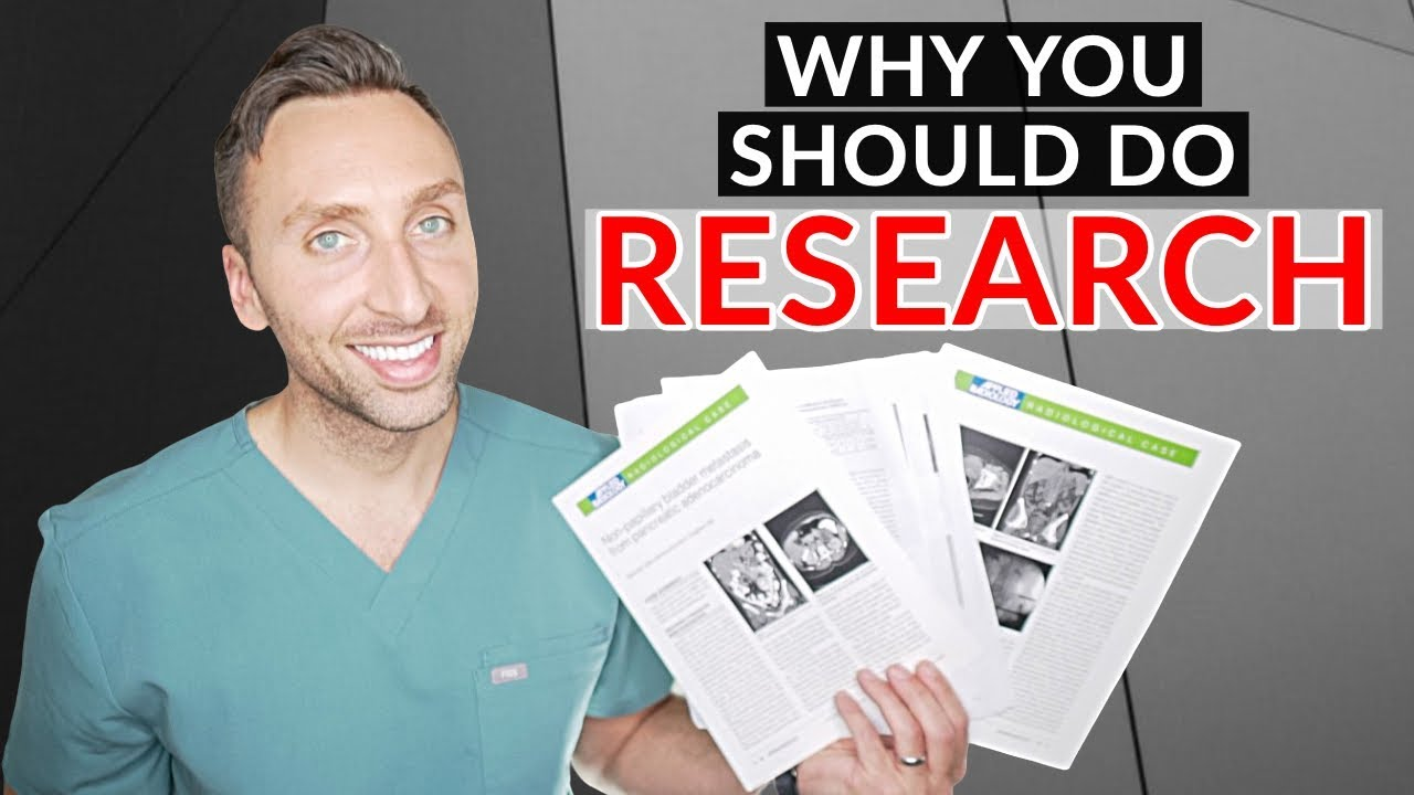 RESEARCH: 4 REASONS You NEED To Do RESEARCH #MedicalRadiology