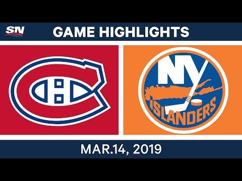 NHL Highlights | Canadiens vs. Islanders  – Mar 14, 2019