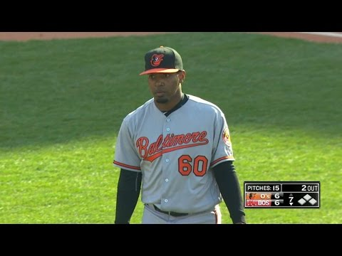 BAL@BOS: Givens fans four in 1 1/3 relief frames
