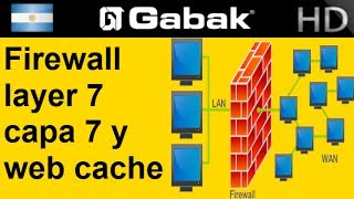 firewall de capa 7 y proxy server y web cache