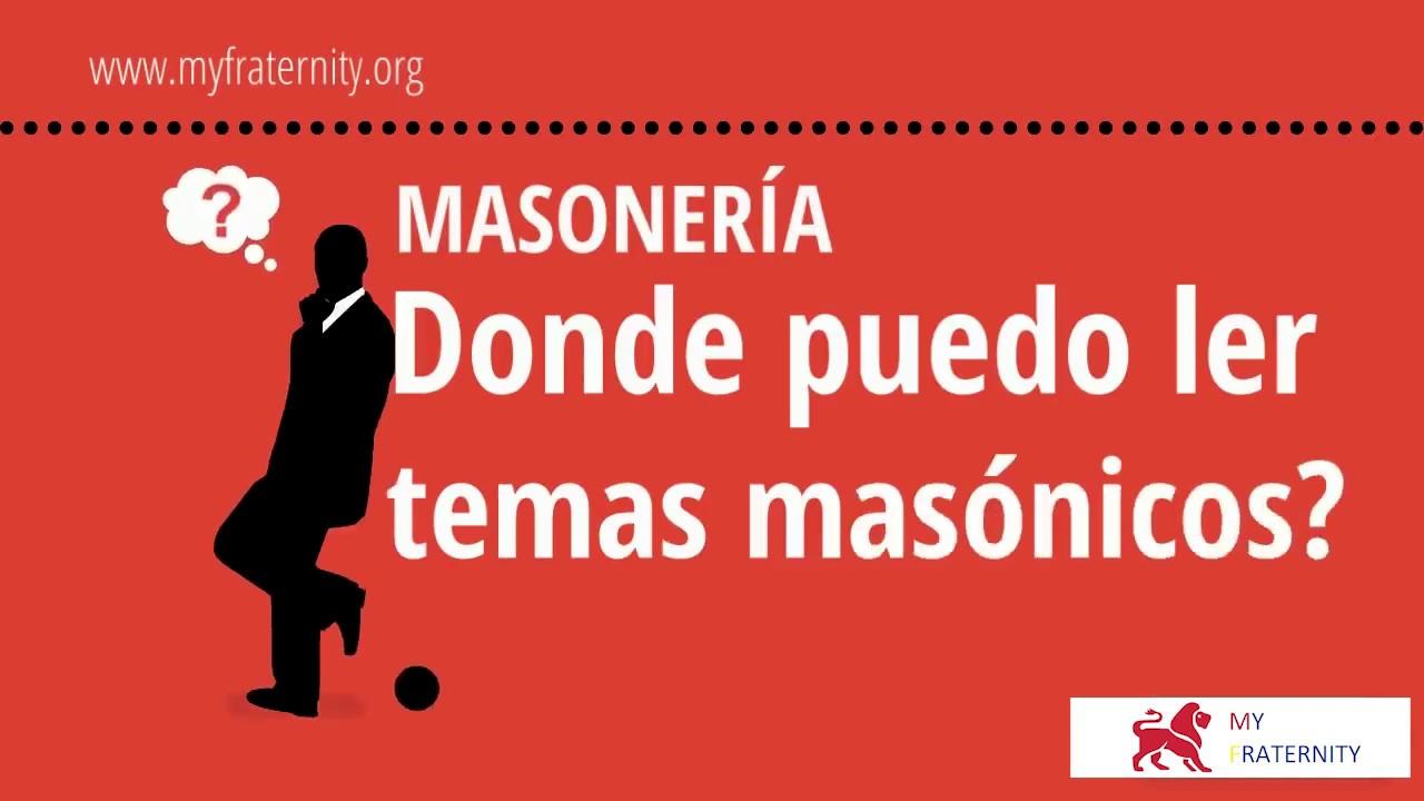 Masonería. ¿Dónde puedo leer temas masónicos? | VIDEO