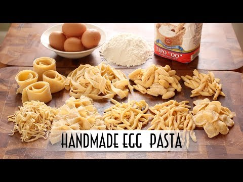 Handmade Egg Pasta | Hand Rolled & Shaped 9 Ways