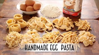 Download Handmade Egg Pasta | Hand Rolled & Shaped 9 Ways Mp3 and Videos
