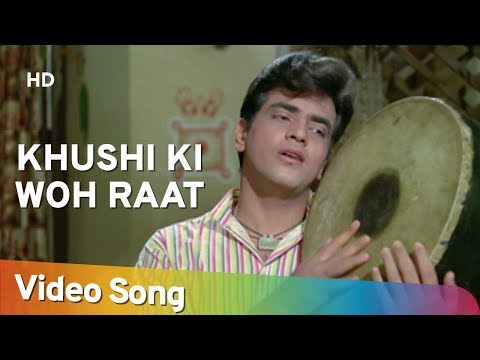 Khushi Ki Woh Raat Aa Gayee (HD) | Dharti Kahe Pukar ke Songs | Jeetendra | Nanda | Sanjeev Kumar