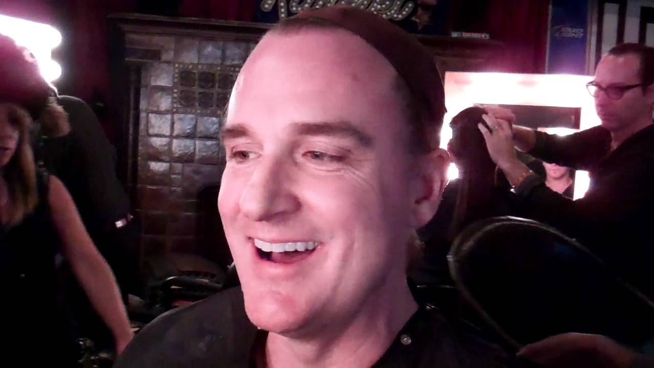 David Ellefson in make up chair at Jimmy Kimmel Live ...