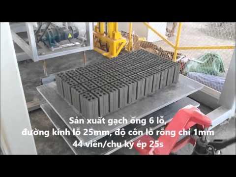 Dây chuyền sản xuất gạch ống không nung số 1 Việt Nam