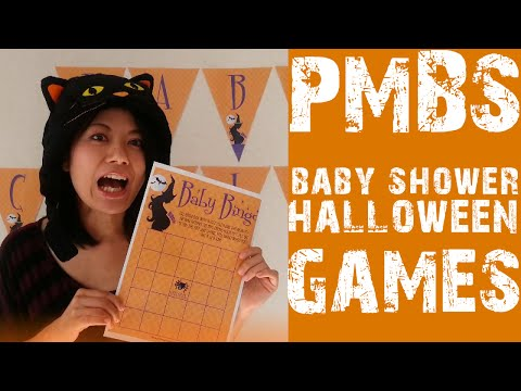 Play With Our Baby Shower Halloween Bingo Game