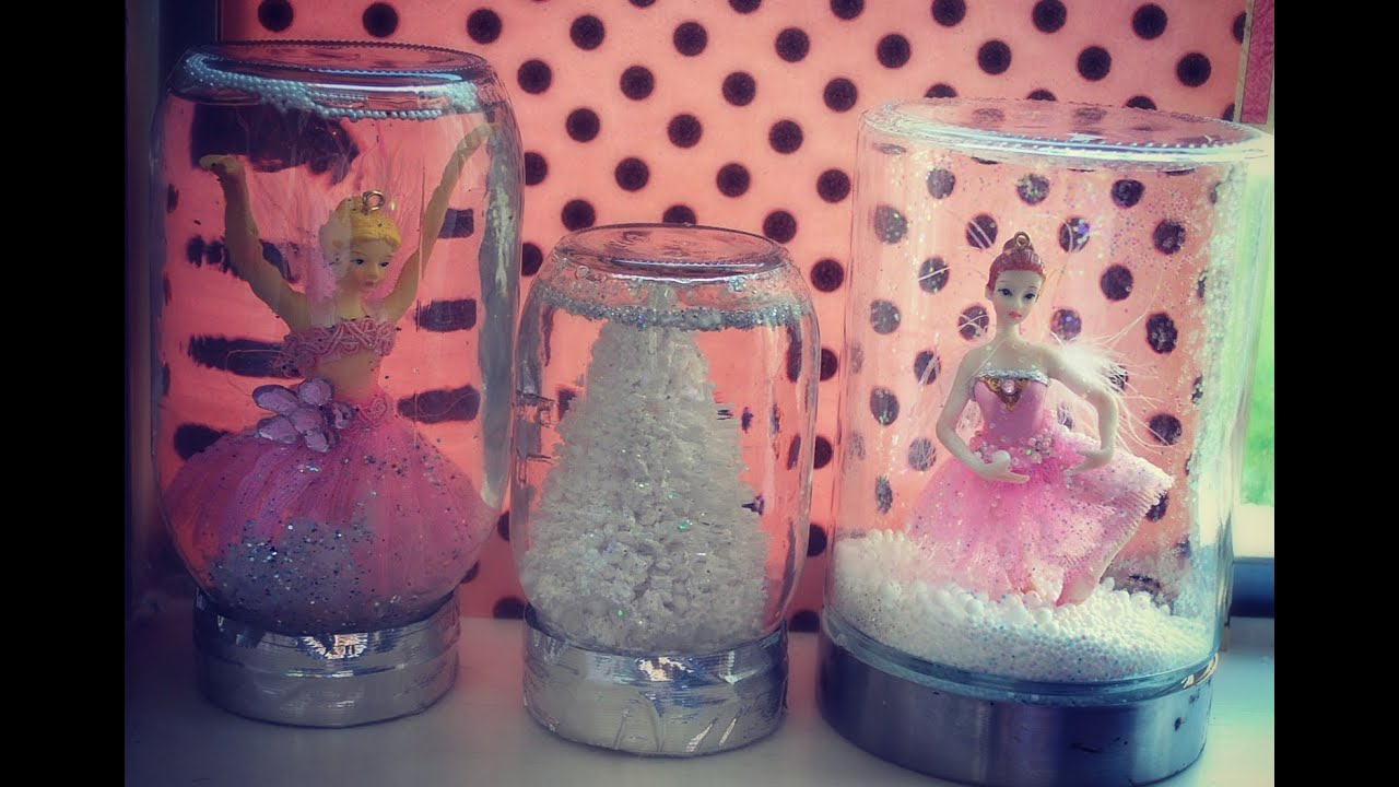 10 DIY Gifts Gift Idea 2 Homemade Jar Snowglobes Pretty Snow Globe