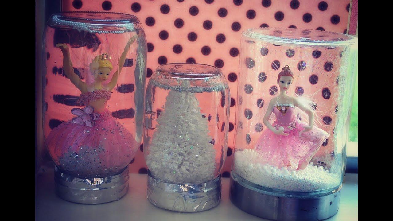 10 DIY Gifts Gift Idea 2 Homemade Jar Snowglobes Pretty Snow Globe