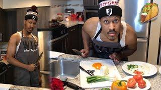 Black Man Makes Tacos