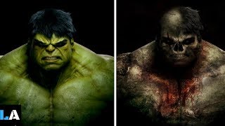 Superheroes As Zombies Version - Superheroes as Monsters/Zombies