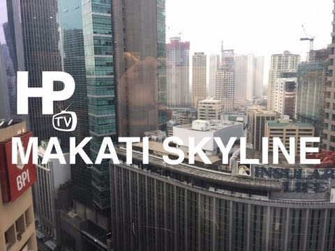 Makati Skyline from Enterprise Center Ayala Avenue Makati by HourPhilippines.com